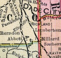 map showing Herndon, also called Phelps