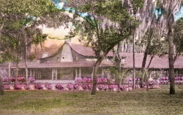 Moon Lake Lodge, from a hand-tinted post card