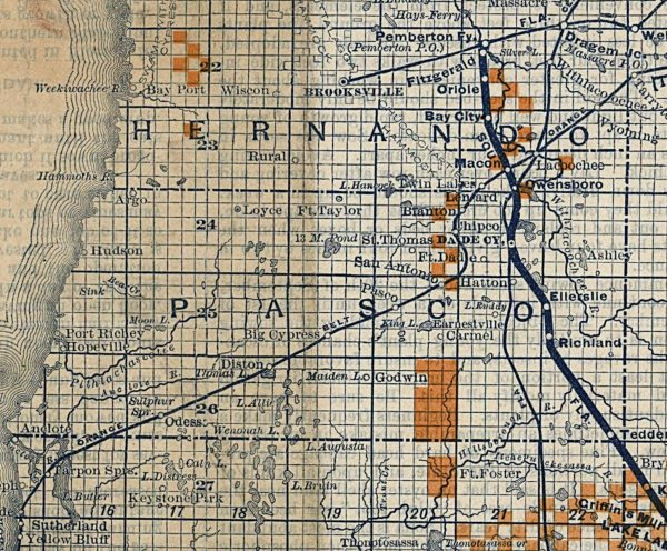 Florida Railroad Map.History Of Railroads In Pasco County Florida