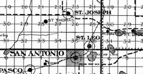 Detail from a 1957 Florida highway map, showing St. Joseph