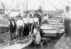 Sponge fishermen in Tarpon Springs